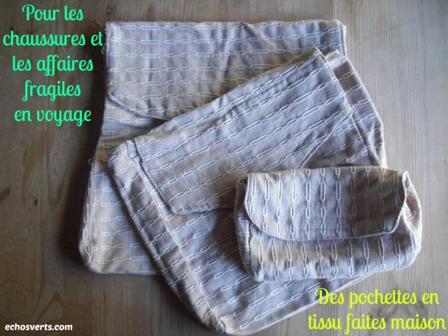 Pochette maison- chaussures- affaires fragiles- voyage- copyright- échos verts