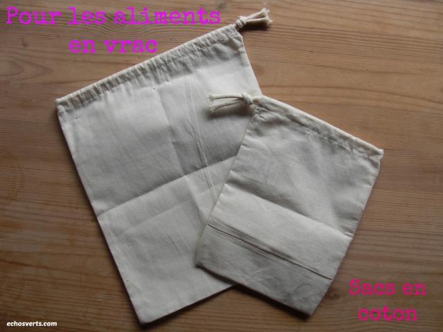 Sacs en coton- vrac- copyright- échos verts