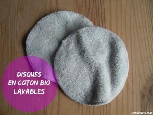 Disque en coton bio lavables- echosverts.com