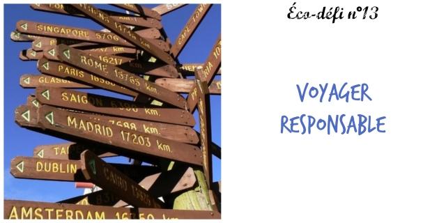 éco-défi 13- voyager responsable