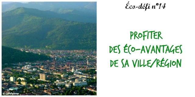 éco-défi 14- profiter des éco-avantages de sa ville