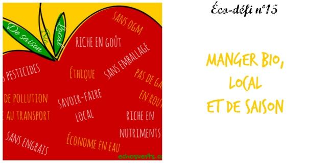 éco-défi 15- manger bio local et de saison