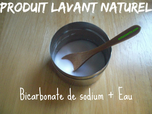 No Poo- Produit lavant naturel- Bicarbonate- échos verts
