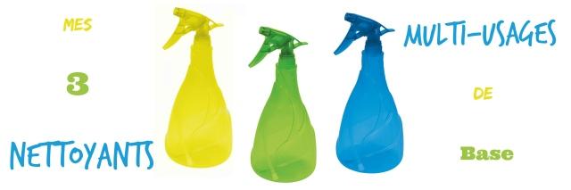 Mes 3 nettoyants multi-usages de base- echos verts