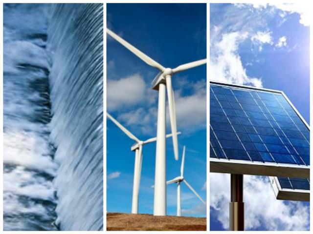 Collage- énergies renouvelables