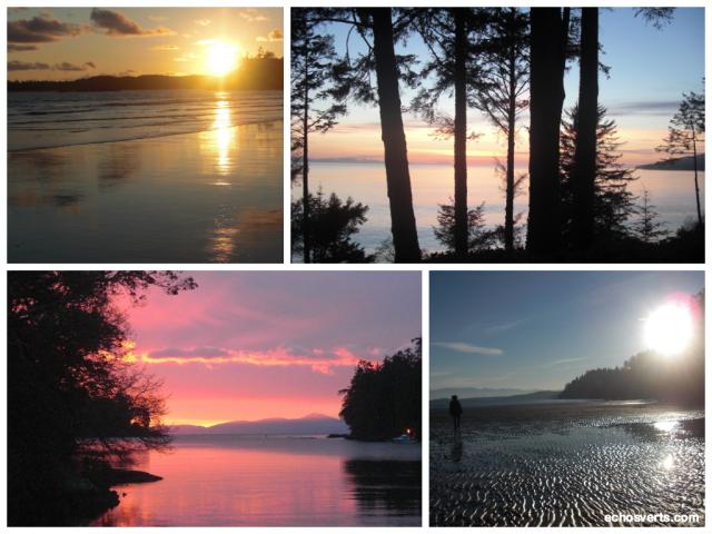Couchers de soleil- Ile de Vancouver- copyright- échos verts