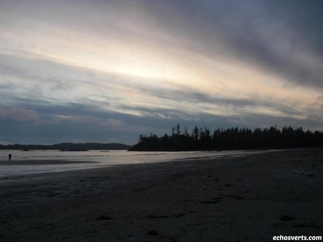 Plage Tofino- soirée- Ile de Vancouver- copyright- échos verts