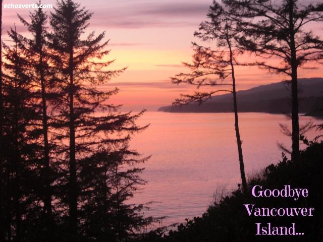 Goodbye Vancouver Island- copyright- échos verts