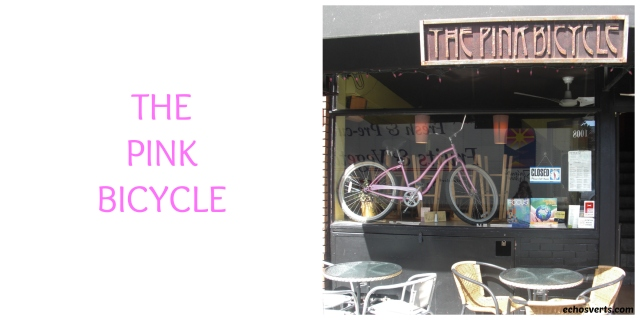 The pink bicycle- Victoria- copyright- échos verts