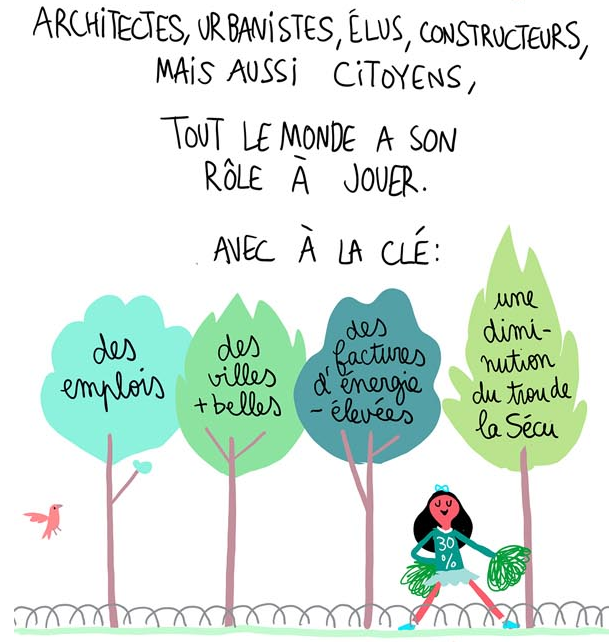 Illustration de Pénélope Bagieu extraite d'une BD réalisée pour IAU îdF