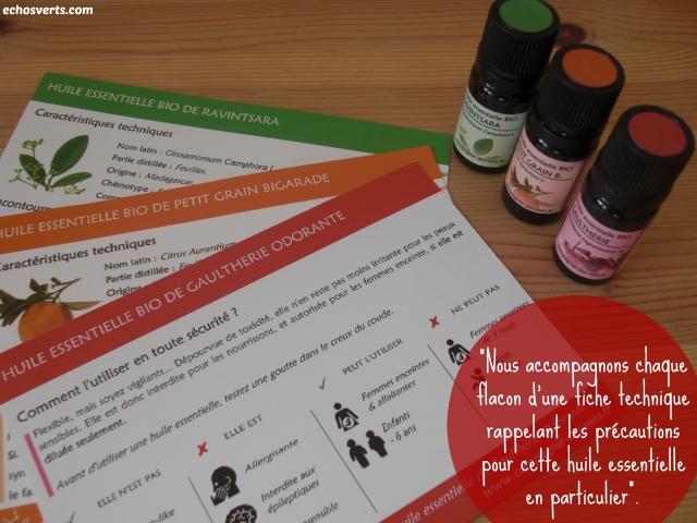 Compagnie des sens-Huiles essentielles- précautions- echos verts