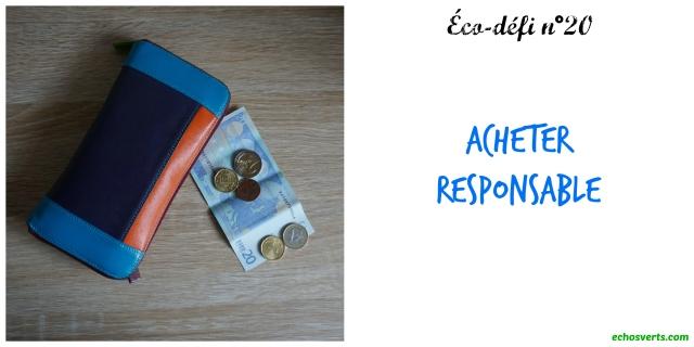 Widget Eco-défi n°20- Acheter responsable