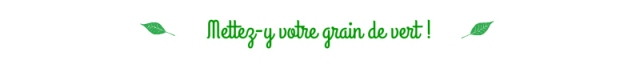 Commentaires- Mettez-y votre grain de vert!