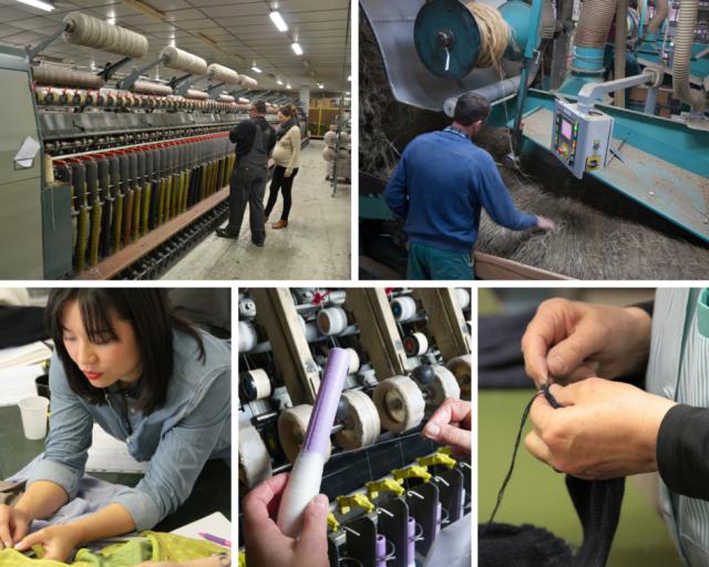 Juste la révolution textile étapes de fabrication
