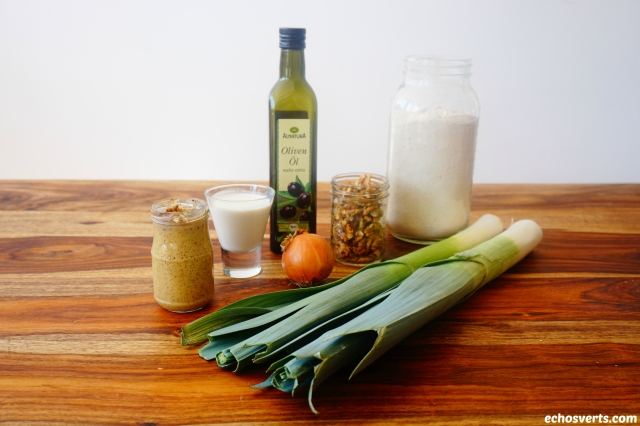 Tarte poireaux noix ingrédients echosverts.com