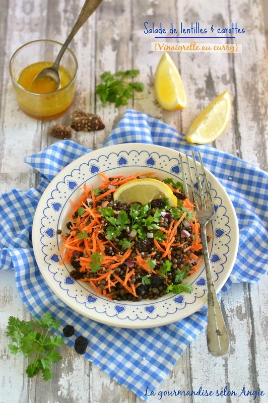 salade lentilles carottes curry la gourmandise selon angie