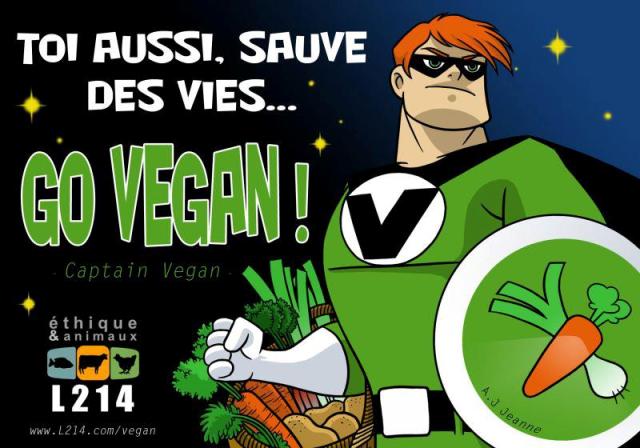 Go vegan L214 Ethique et Animaux