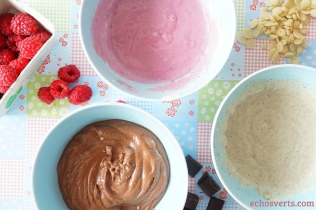 Crèmes végétales chocolat framboise vanille echosverts.com