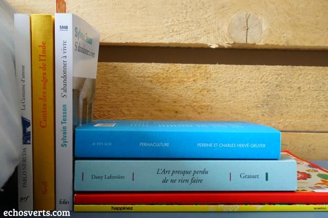 Livres et magazines sur mon chevet echosverts.com