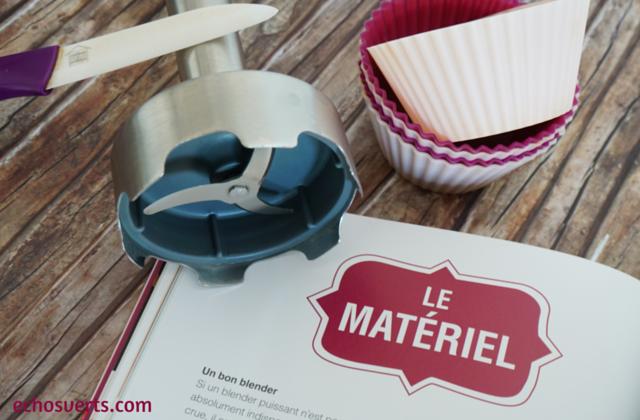 La pâtisserie crue Ophélie Véron matériel echosverts.com