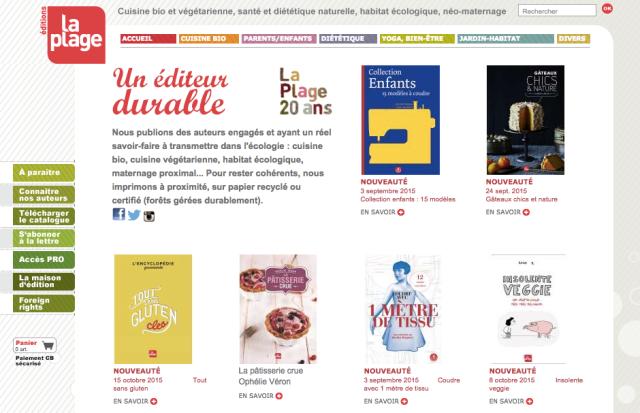 Editions La Plage Site Internet