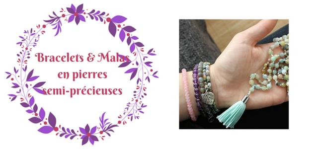 Bracelets colliers pierres semi-précieuses beeutiful