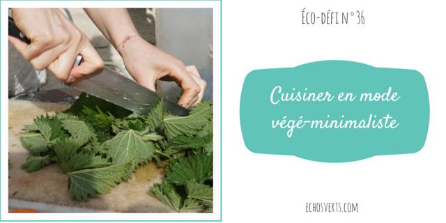 cuisiner en mode végé-minimaliste éco-défi echosverts.com