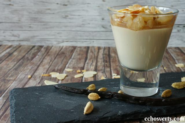 crème cajou cardamome recette vegan echosverts.com