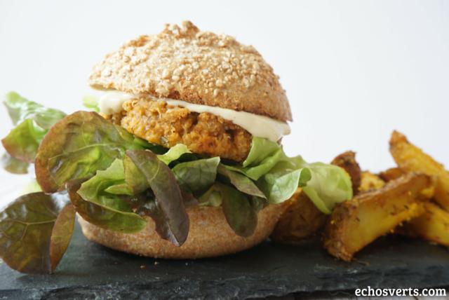 Burger végétalien quinoa tofu rosso echosverts.com