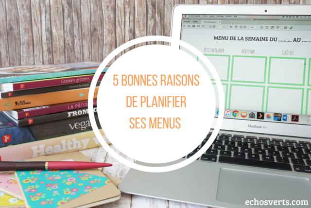 Planifier ses menus astuces echosverts.com