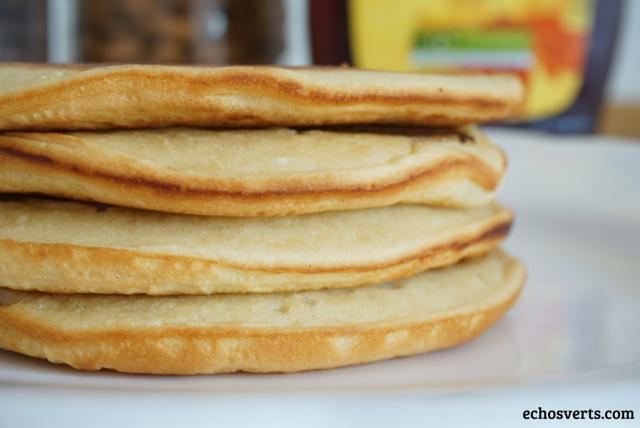 Pancakes épeautre vegan echosverts.com
