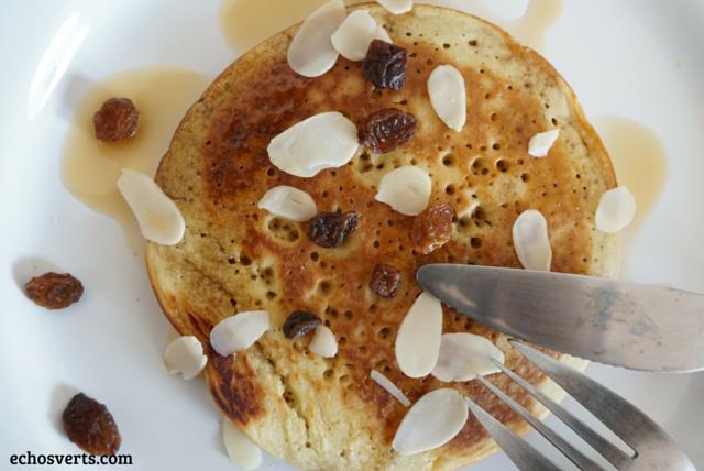 Pancakes sans oeufs sans lait épeautre echosverts.com