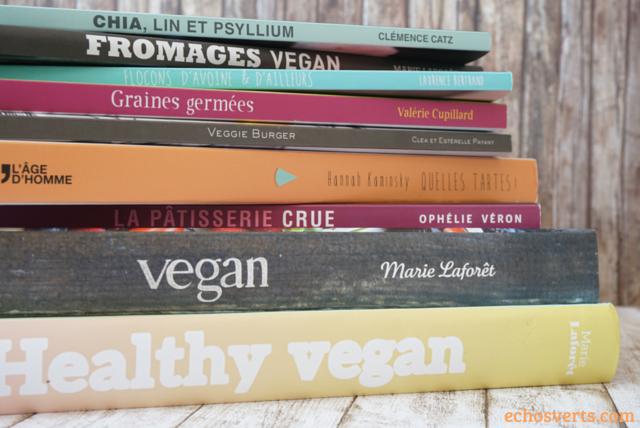 Livres recettes végétarien végétalien vegan echosverts.com