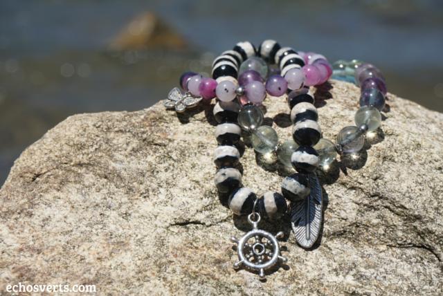 Bracelets beeutiful pierres semi-précieuses echosverts.com