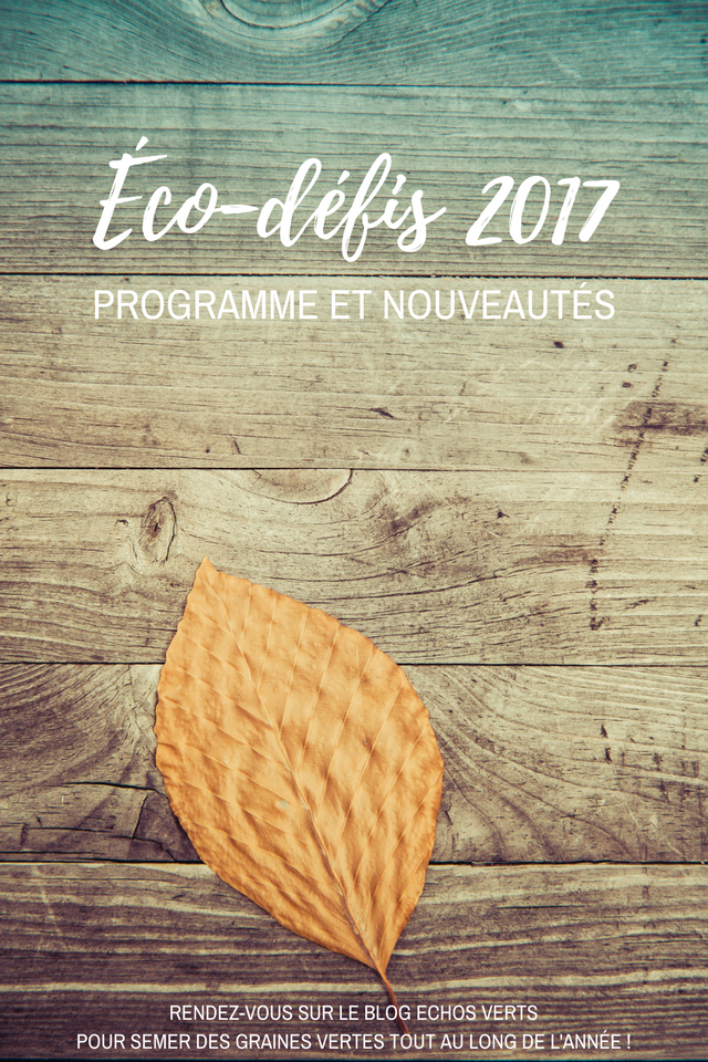 ECO-DÉFIS 2017 echosverts.com