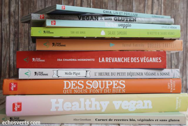 Livres cuisine végétarienne végétarlienne vegan echosverts.com