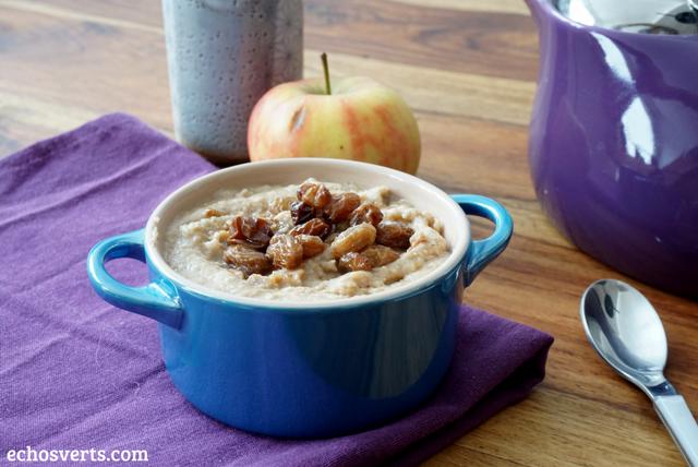 Porridge avoine sans lait echosverts.com